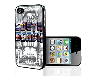 Colorful South Beach with Black and White Miami Background Hard Snap on Phone Case (iPhone 4/4s)