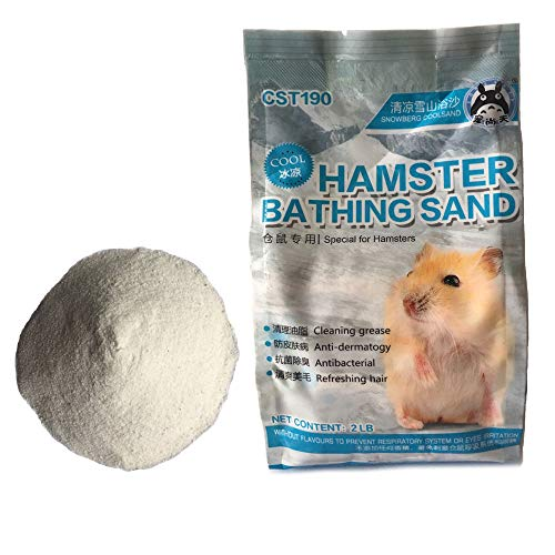 (PIVBY Hamster Bathing Sand Tiny Friends Farm Chinchilla Dust Bathing Sand Toys for Bunny Rabbits Guinea Pigs Gerbils(2LB))