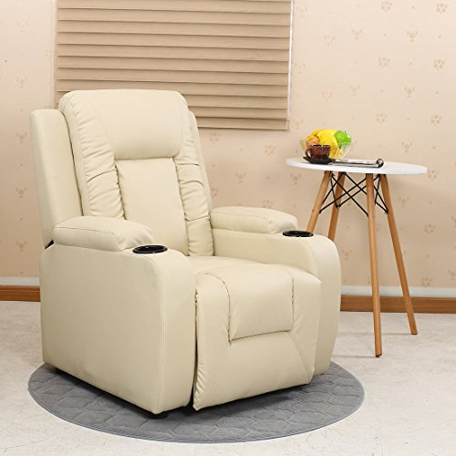 More4Homes OSCAR BONDED LEATHER RECLINER w DRINK HOLDERS ARMCHAIR SOFA...