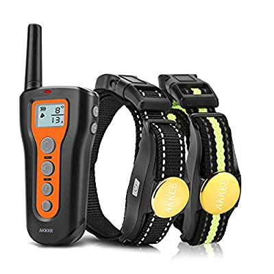 AKKEE Dog Training Collars Electric Sport Dog Shock Collar with Remote, Rechargeable Pet Trainer Collars with Beep Vibration Shock for Small Medium Large Dogs by AKKEE