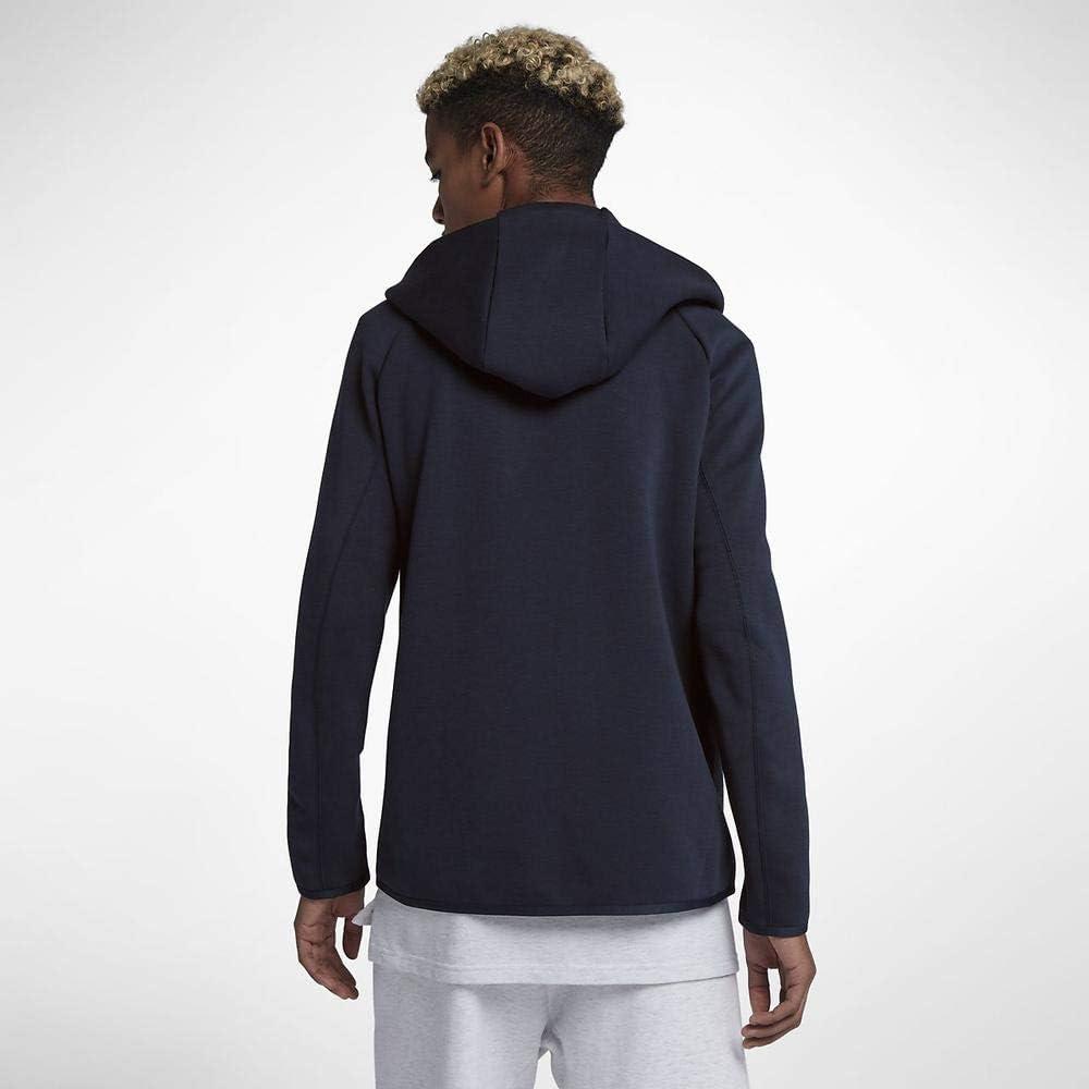 Nike Herren M NSW Tch FLC Hoodie Fz Sweatshirt Obsidian/(White)