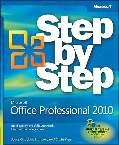 microsoft office professional 2010 step by step joan lambert joyce