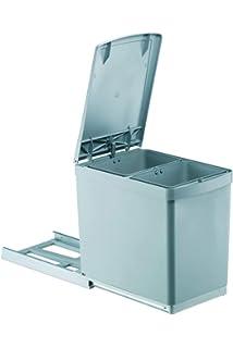 Elletipi Tower Pai605 1 Cubo Reciclaje Extraíble Automática Para Base Gris 25 X 46 X 41 Cm Plástico Y Acero Basura Y Reciclaje Hogar Y Cocina
