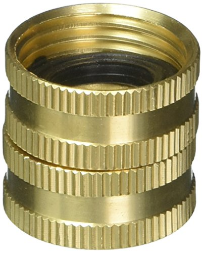 Gilmour Heavy Duty Hose Connector Double Female Swivel Brass 3/4 inch NH x 3/4 inch NH 807734-1001 ()