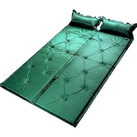 Doble Personas saco de dormir para Camping senderismo hinchable Pad puede ser Integra automáticamente para ambientes húmedos, Military green: Amazon.es: ...