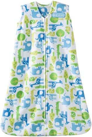 Halo SleepSack Micro-Fleece Wearable Blanket, Blue Jungle, Medium
