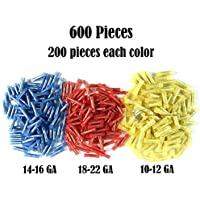 600 RED BLUE YELLOW NYLON BUTT CONNECTORS 22-18 16-14 12-10 AWG GA SCOSCHE