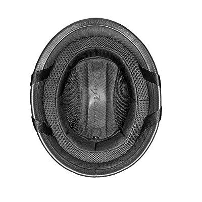 Daytona Helmets Motorcycle Half Helmet German- Dull Black 100% DOT Approved: Automotive