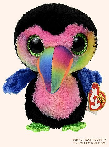 New TY Beanie Boos Cute BEAKS the colorful Toucan Plush Toys 6'' 15cm Ty Plush Animals Big Eyes Eyed Stuffed Animal Soft Toys for Kids Gifts