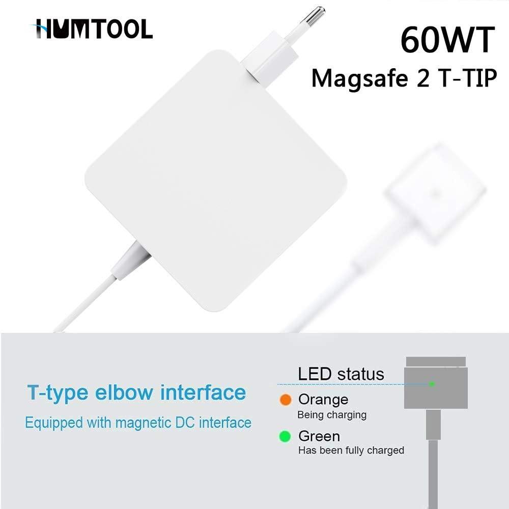 Desde Mediados de 2012 MacBook Air 13 Humtool Adaptador de Corriente 45W Magsafe 2 para MacBook Air 11
