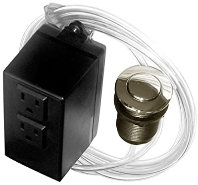 Westbrass ASB-2-20 Garbage Disposal Air Switch and Dual Outlet Control Box, Stainless Steel