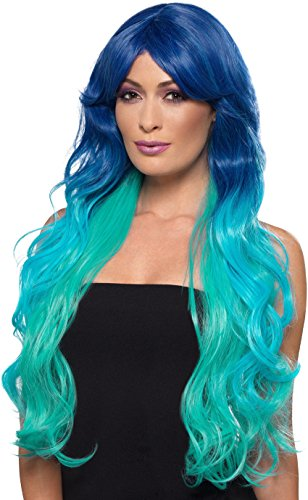 Smiffys Fashion Mermaid Wig, Wavy, Extra Long