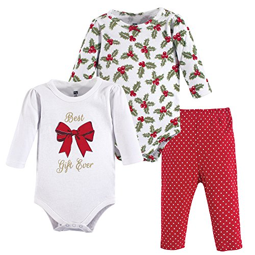 Hudson Baby Bodysuit and Pant Set, Best Gift, 6-9 Months (9M)