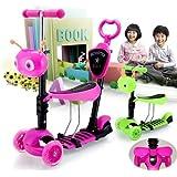 3 en 1 Mini Arranque rápido Scooter con el asiento para bebés, Niños pequeños y más joven niños con intermitente Rueda