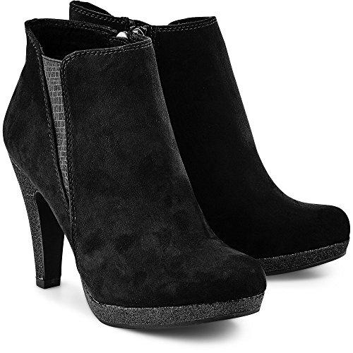 Marco Tozzi 25363-098 TAGGISPABOOT Black Womens Ankle Boots Black (Black Comb 098) AqvPp