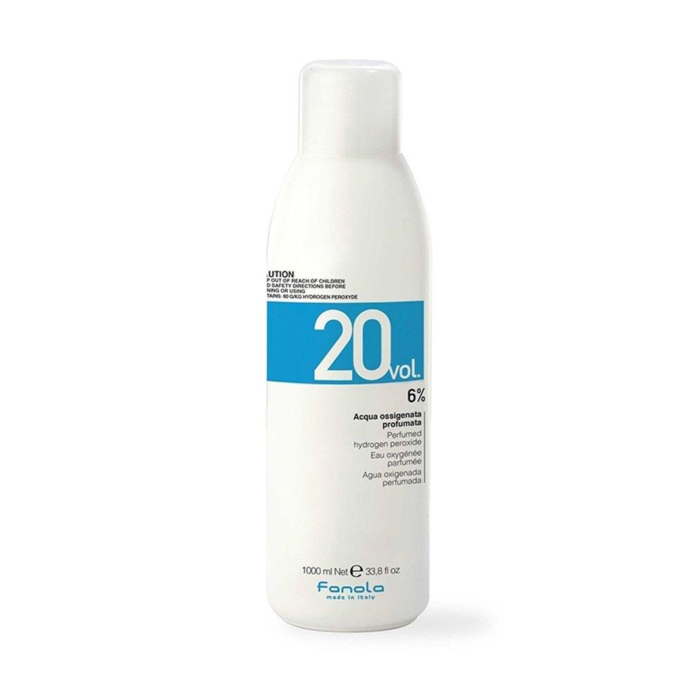 Fanola Oxigenada 20 VOL 6% 1000 mL 1 L - Agua oxigenada perfumada aroma plátano - Tinte cabello pelo - PROFESIONAL FOX2