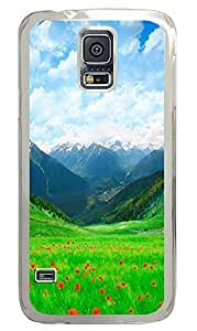 brand new Samsung S5 cover Grass Fields PC Transparent Custom Samsung Galaxy S5 Case Cover