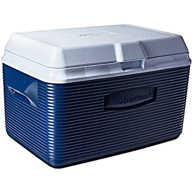 Rubbermaid Ice Chest / Cooler, Blue, 34-quart (FG2A2002MODBL)