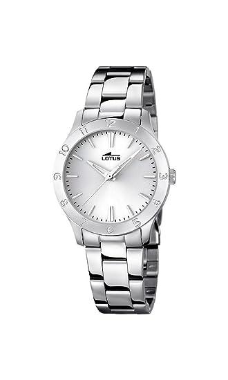 1d1540b695a9 Lotus Reloj analógico para Mujer de Cuarzo con Correa en Acero Inoxidable  18138 1  Amazon.es  Relojes
