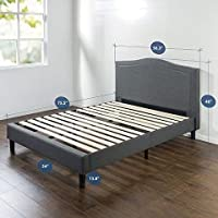 Deals on Upholstered Avignon Scalloped Platform Bed - Full