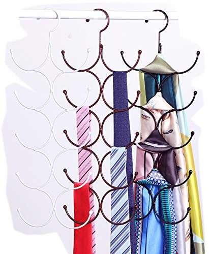 Life Star 10 Circle Magic Scarf Frame Hangers for Scarf Belt Tie Underwear (Bronze) by Scarf Organizers