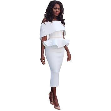 3ecdba2a1b Women Dress Daoroka Ladies Sexy Off Shoulder Plus Size Work Office Pencil  Bodycon Casual Sheath Business