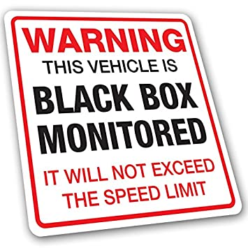 Black box monitored warning car sticker young driver insurance 9 5cm x 9 5cm uv