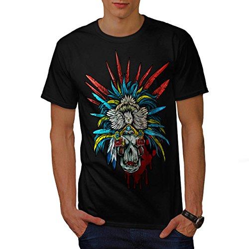 [Skull Indian Warrior Costume Men NEW M T-shirt | Wellcoda] (Mayan Warrior Costumes)