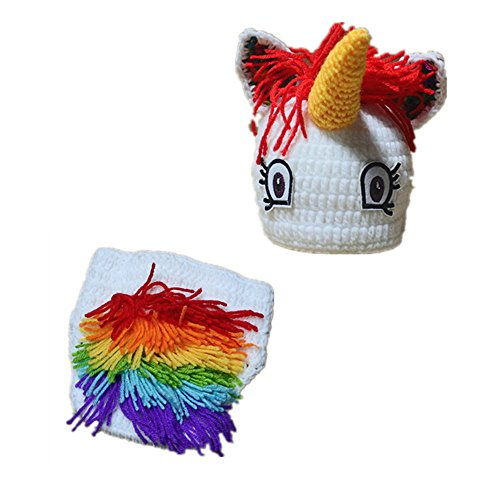 258f9702521 Halloween Rainbow Unicorn Baby Knitted Hat Photography Prop Costume Photo  Shoot Accessories - Buy Online in KSA. sd finger products in Saudi Arabia.