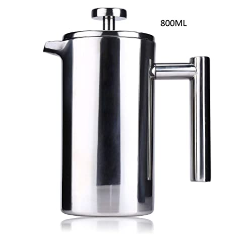 Amazon.com: Cafetera de acero inoxidable de 800 ml ...