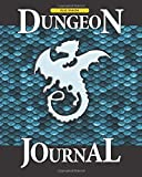 Blue Dragon Dungeon Journal: RPG quad graph paper notebook - 100 pages