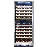 Kitchen & Housewares : FIREBIRD 116 Bottle Dual Zone Freestanding Electric Wine Cooler Chiller Refrigerator w/ Touch Control Built-in Compressor