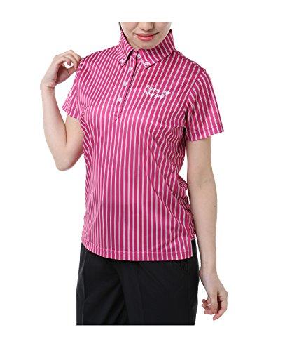 オプスト レディース ゴルフウェア ポロシャツ 半袖 マルチカラ―ストライプ半袖シャツ OP220301H06 PI O