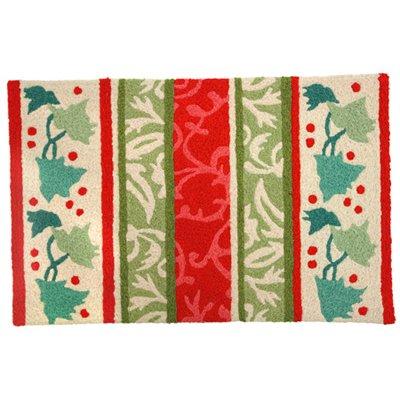 Jellybean Holiday Stripes Outdoor Door Mat