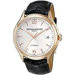 Baume & Mercier Men's BMMOA10058 Clifton Analog Display Swiss Automatic Black Watch