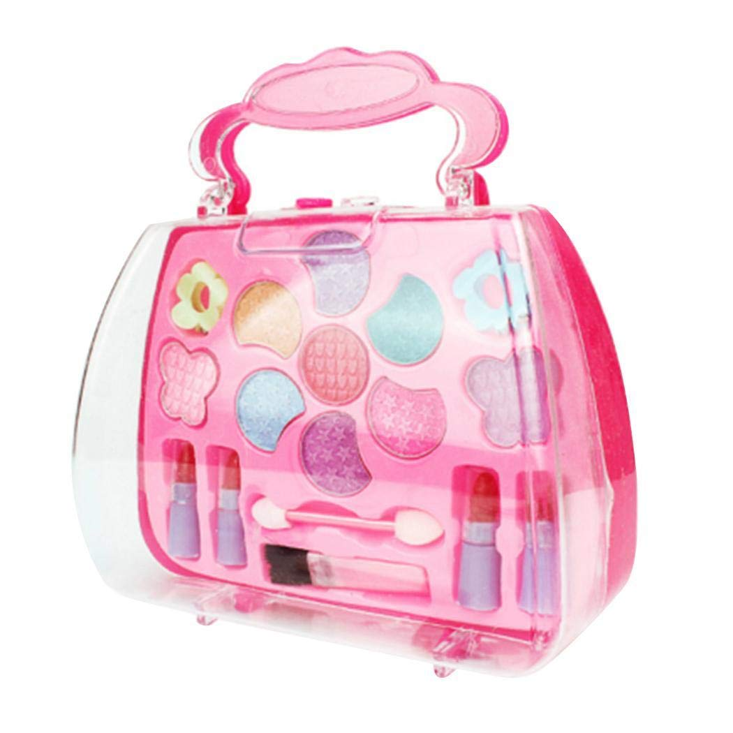 Erholi Girls Make-Up Box Princess Traveling Cosmetic Pretend Play Toy Set for Kids Gift Makeup by erholi (Image #1)