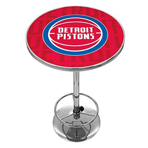 Trademark Gameroom NBA2000-DP3 NBA Chrome Pub Table - City - Detroit Pistons