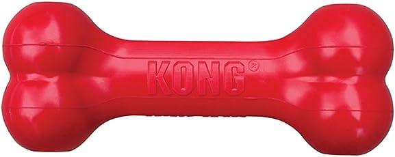 KONG Goodie Bone Juguete para Perro con Forma de Hueso, mediano, rojo