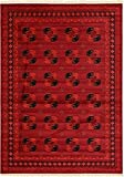 Unique Loom Tekke Collection Tribal Traditional Torkaman Red Area Rug (8′ x 11′)