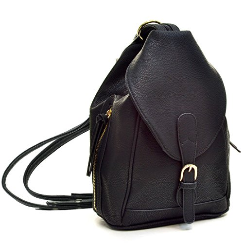 Dasein Mini Faux Leather Convertible Backpack Purse Triangle Shoulder Sling Bag Multipurpose Daypack Travel Handbag for Women & Girl Leather Mini Sling