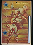 1968 FLEER BIG SIGNS #7 DALLAS COWBOYS