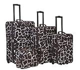 Rockland Luggage 4 Piece Luggage Set, Giraffe, One Size