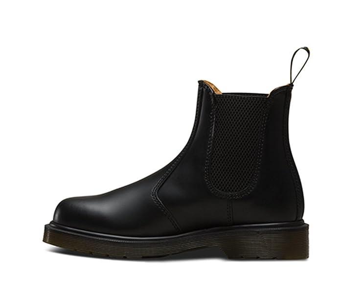 DOC Women's Men's Fall/Winter Unisex Classic Short Ankle Chelsea Black  Smooth Leather Boots, Waterproof Booties, Elastic Design Slip On, US Women  8/US Men ...