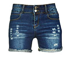Produced By Clothing Expert PHOENISING! Light Distressed Design Denim Shorts,New Fashion. Thin & Breathable Cotton Fabric Makes You Feel So Cool in Hot Weather. Adjustable Waist,Stretchy & Comfy. Cold Wash,No Bleach,Machine Wash Avail...