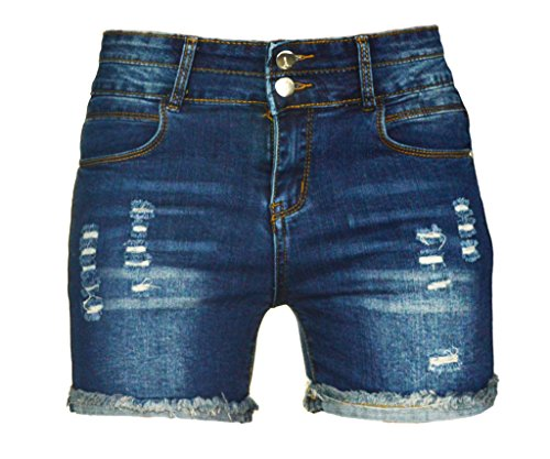 - PHOENISING Women's Sexy Stretchy Fabric Hot Pants Distressed Denim Shorts,Size 2-16