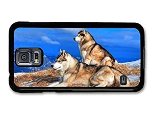 Two Husky Wolves Dogs Resting case for Samsung Galaxy S5