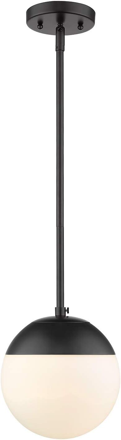 Golden trend rank Lighting 3218-S BLK Dixon Damp - Long Beach Mall Pendant Black Mini