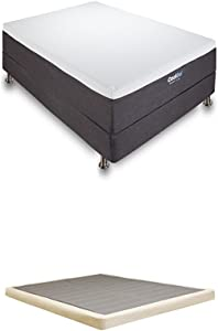 Classic Brands Cool Gel Memory Foam 12-Inch Mattress with 4-Inch Low Profile Instant Foundation, Queen