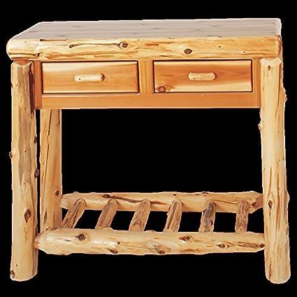 Outstanding Amazon Com Cedar Sofa Table With Two Drawers Real Wood Beutiful Home Inspiration Xortanetmahrainfo