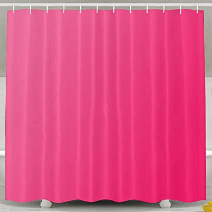 BESTSC Bath Curtain Hot Pink Shower Curtains